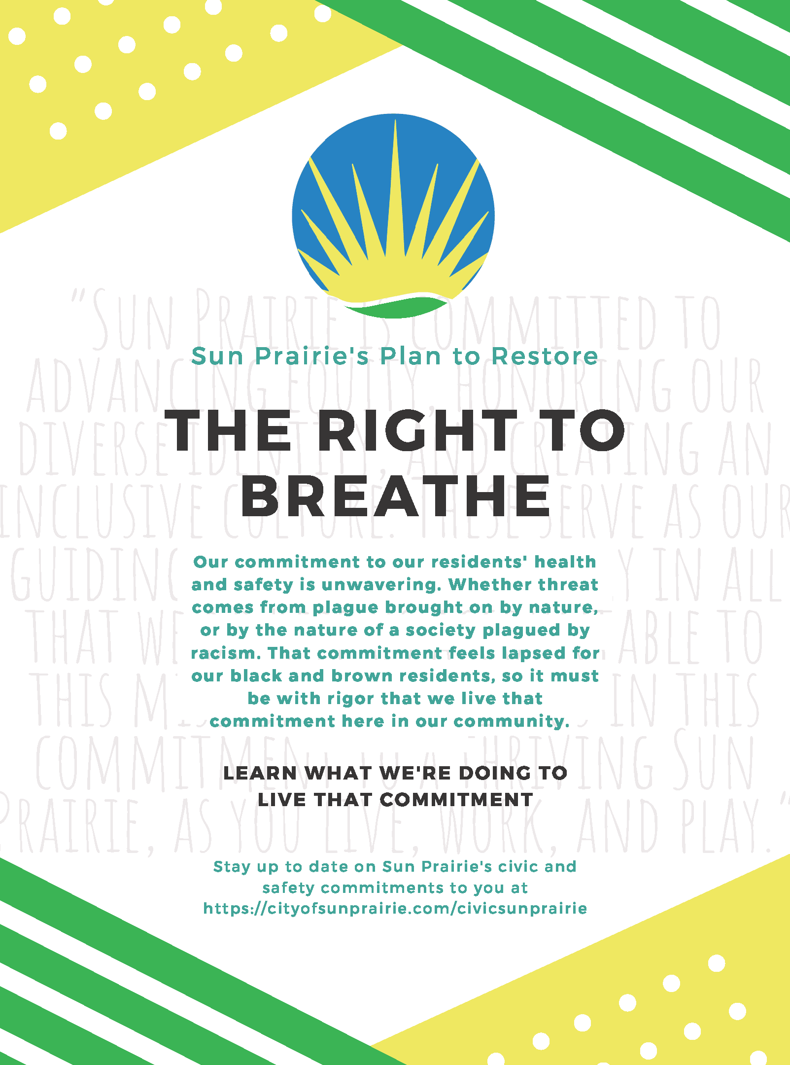 Sun Prairie's Plan to Restore The Right to Breathe Flyer