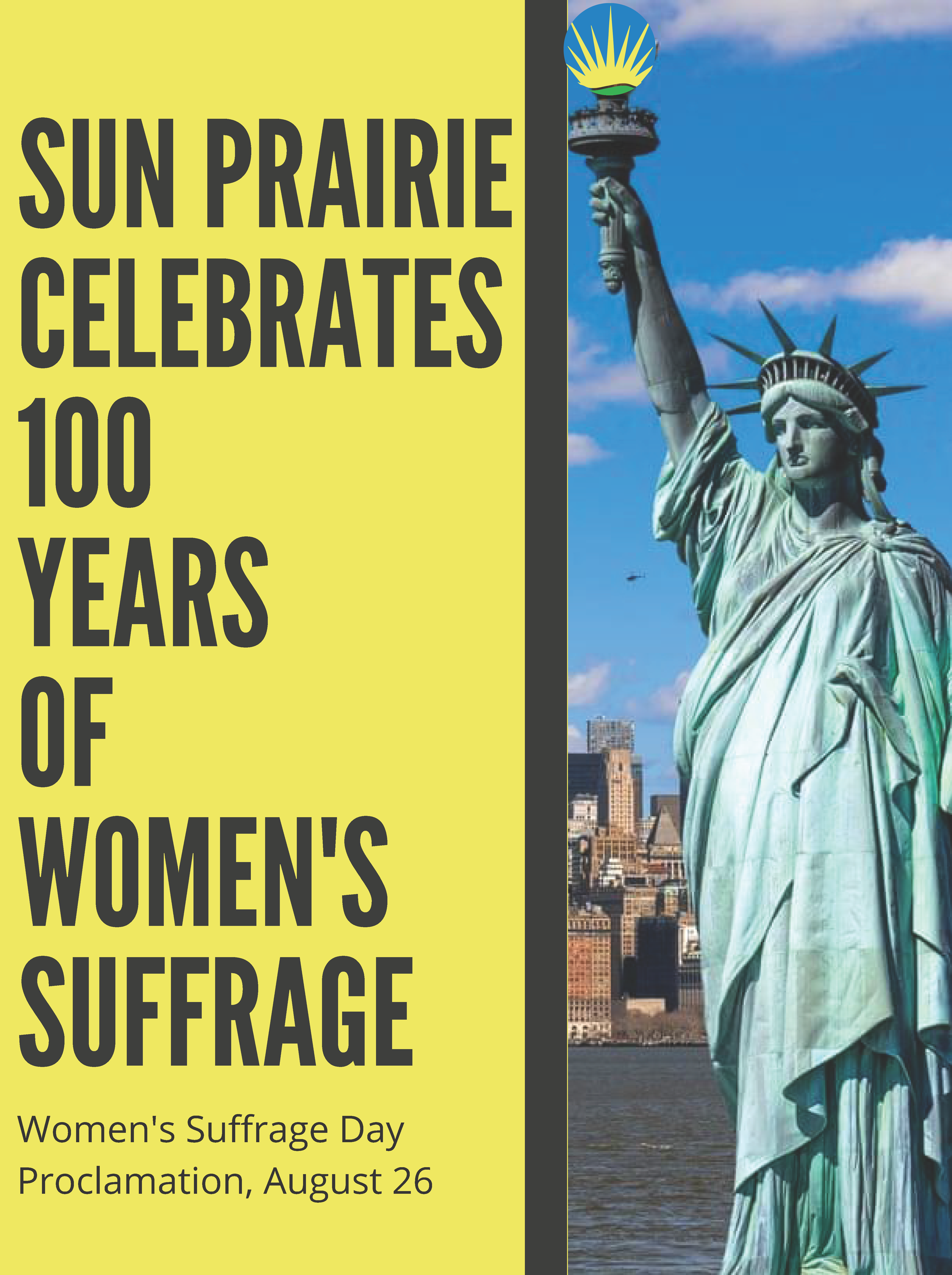 Sun Prairie 100 Years of Women's Suffrage Proclamation