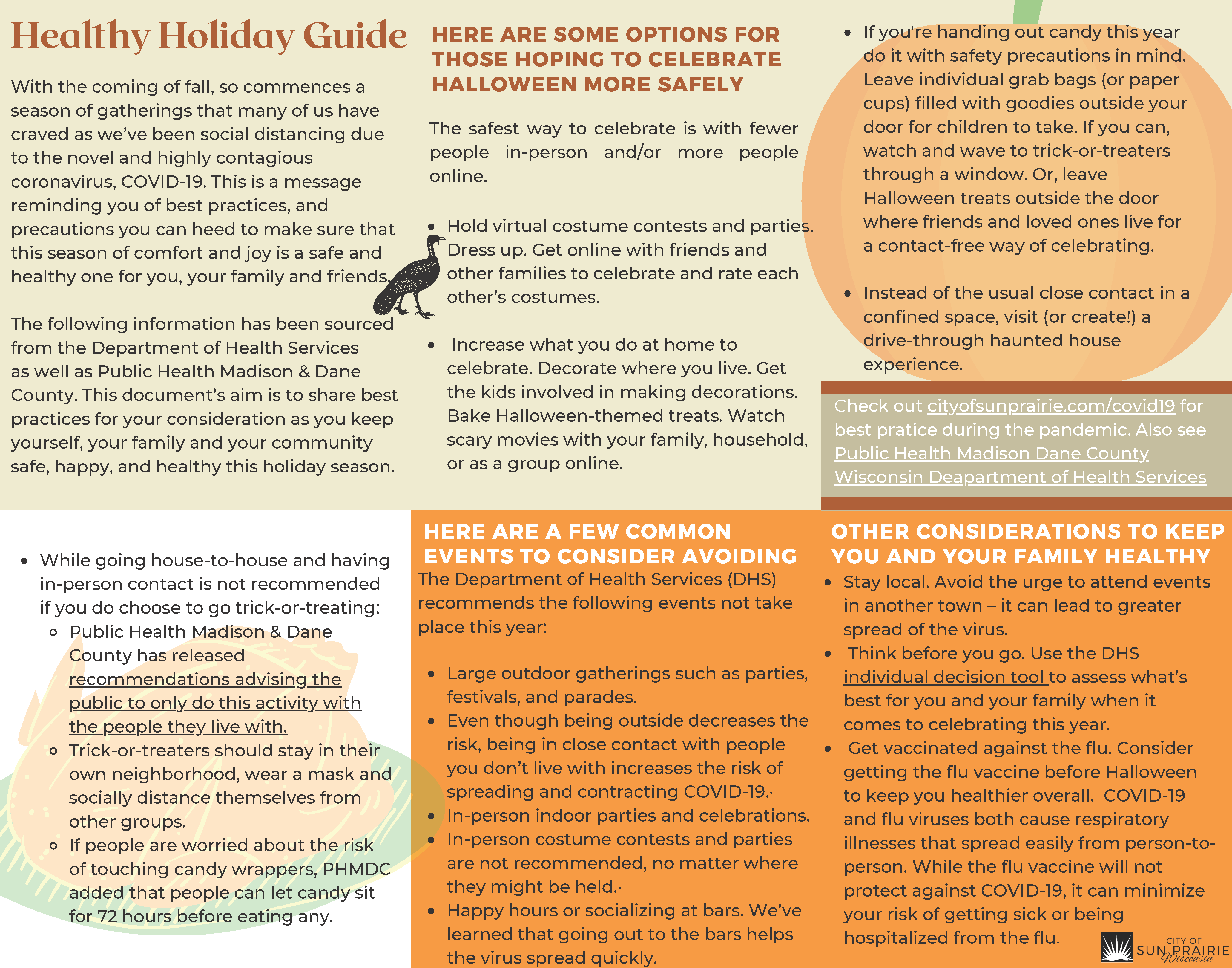 holiday health guide pamphlet Image