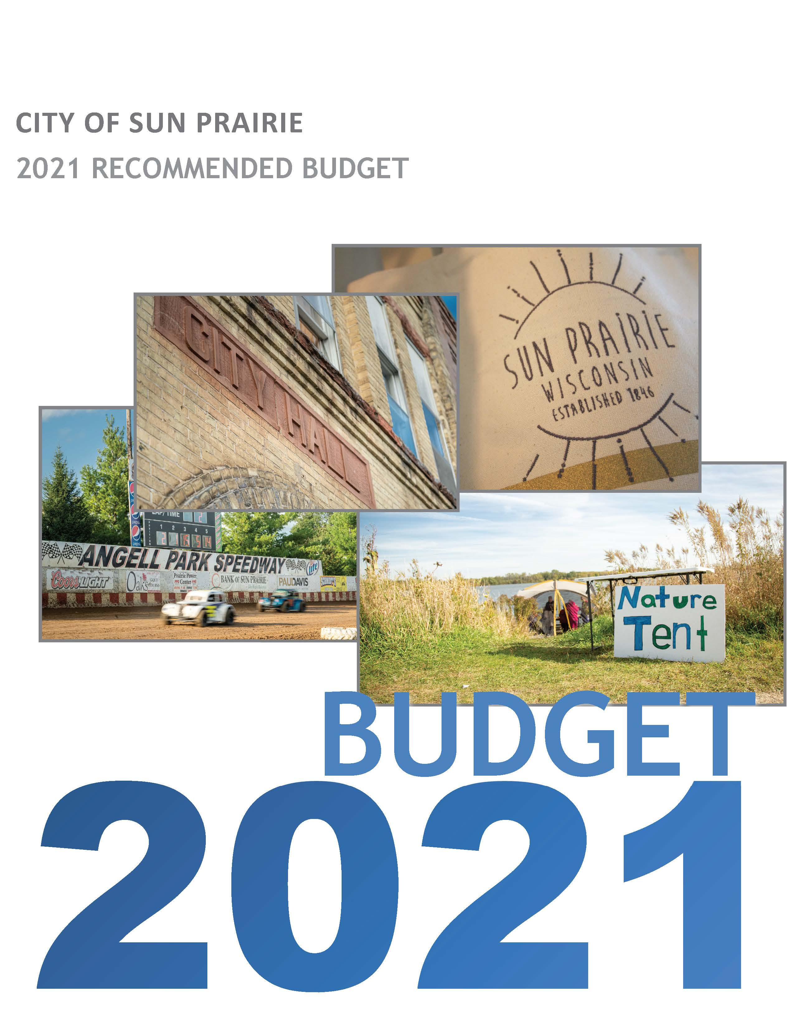 2021 Recommended Budget Cover