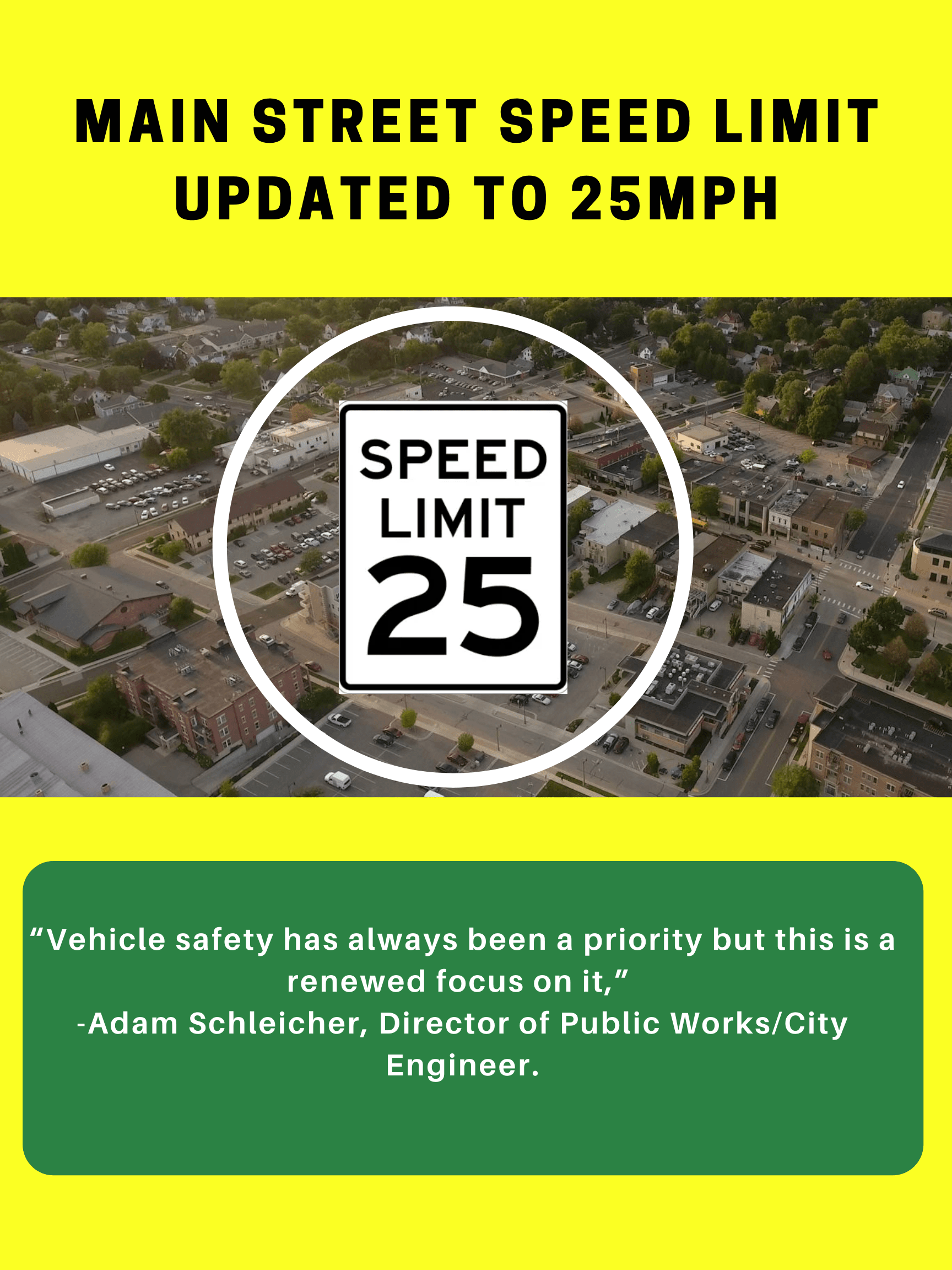 updated speed limit on main street