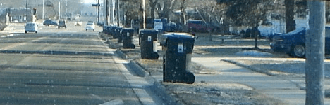 Carts along the curb