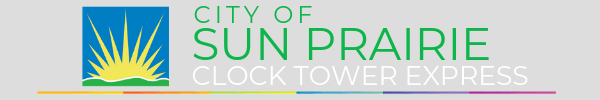 Sun Prairie Clock Tower Express Logo
