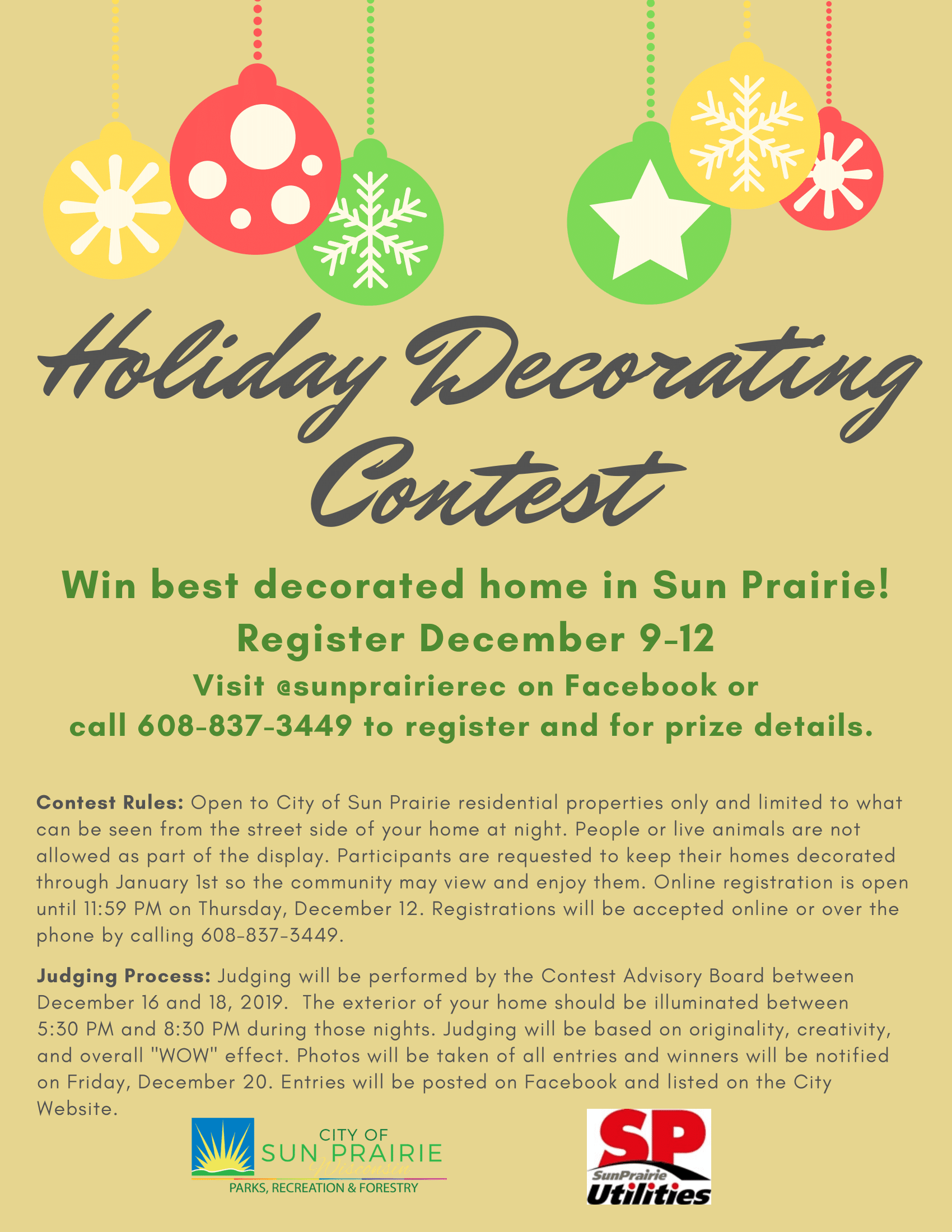 Holiday Decoration Contest Flyer