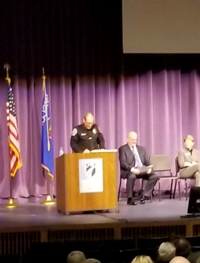 Chief Anhalt speaking at Ceremony