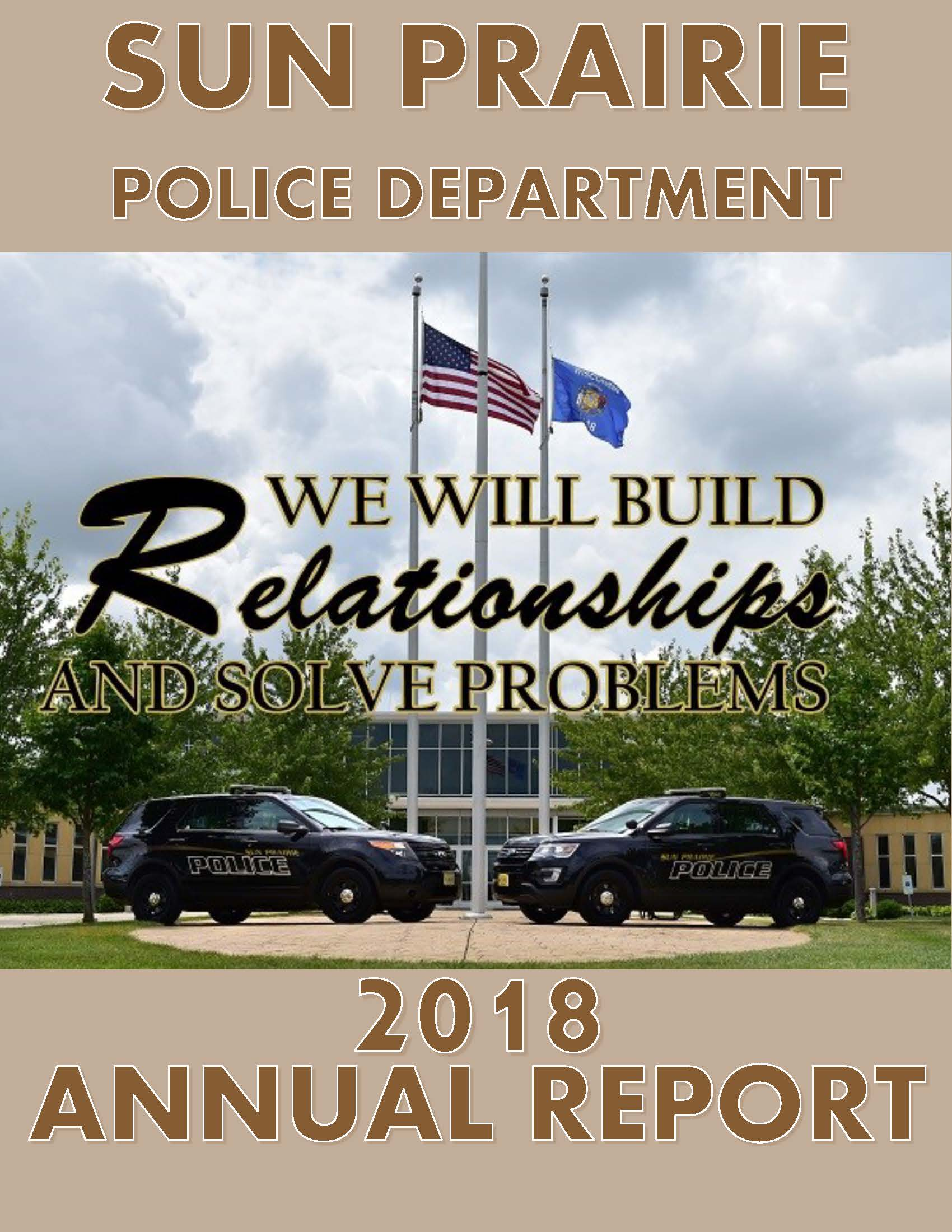 Cover 2018 Sun Prairie Police Annual Report